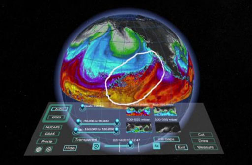 teaser image of MeteoVis: Visualizing Meteorological Events in Virtual Reality